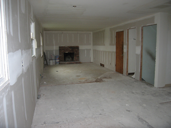 Living Room During Construction Picture